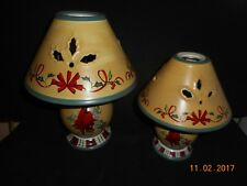 Lenox 2 Cardinal Candle Tea Light Lamps Winter Greetings Everyday Large Small