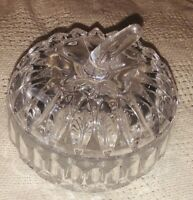 """Vintage Clear Crystal Pumpkin Candy Dish With Lid 5""""x5"""""""