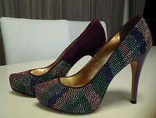 FINAL PRICE REDUCTION. BARGAIN! Corelli heels, 8.5-9, sparkly bling purple