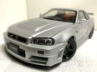 Auto Art 1/18 NISMO R34 GT-R Z-tune Nissan Silver Die-cast From Japan