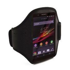 Fascia da braccio Sport per Sony Xperia Z1 bracciale Armband fitness corsa Nera