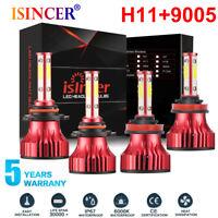 MINI 4-Side Combo H11 H9 9005 LED Headlight Kit High Low Beam Fog Light  6000K