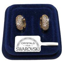 Orecchini Cerchi tempestati donna pl. oro giallo 18K con cristalli swarovski S21