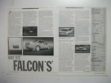FORD EA FALCON SEDAN 3.9 MPFI 'S' 5SPEED MANUAL 2 PAGE MAGAZINE ROAD TEST