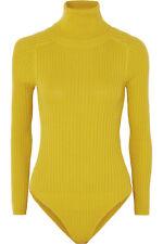L.F.MARKEY Axel Ribbed Stretch Yellow Turtleneck Bodysuit U.S 8 U.K 12 NWT