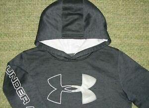 UNDER ARMOUR Sharp BIG LoGo Hoodie Sweatshirt YLG Boys Large L 14/16 Coldgear