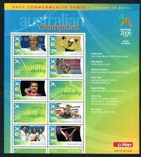 2006 Australian Decimals Melbourne Commonwealth Games MNH Champions Sheetlet #05