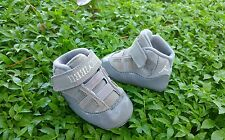 Nike Air Jordan Retro XI (11) COOL GREY Baby Crib Shoes Size 1c KIDS RARE 2010