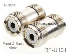 UHF Female to UHF Female Inline Coaxial Coupler Adapter, CablesOnline RF-U101