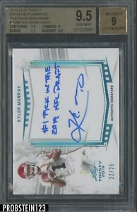 2019 Leaf Trinity Platinum Spectrum Kyler Murray RC AUTO Inscription /25 BGS 9.5