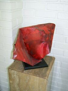 "ORIGINAL WORK 20th CENTURY MODERN ARTIST SCULPTURE ""Cardinal"" FABRICATED METAL"