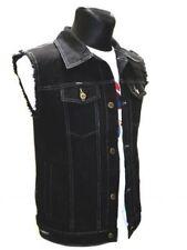 Jeans Weste schwarz mit ausgefransten Armen 105702 Capricorn Rockwear #