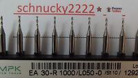10 Stück + VHM  Zweischneiden Fräser +1,0 mm + Dremel + Proxxon + CNC
