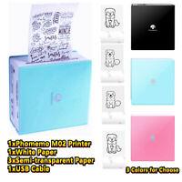 Mini Portable Photo Sticker Printer Pocket Wireless Bluetooth For Android iOS