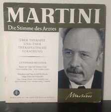"""Martini & Leonhard Metzner The Voice of the Doctor 1960 10"""" Germany DGG NM"""