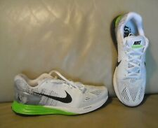 NWOB Men's Nike Lunarglide 7 Running Shoes Size 9.5 Color White/ Grey/ Green