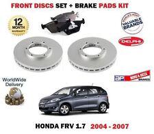 FOR HONDA FRV VTEC 1.7i 2004-2007  FRONT BRAKE DISCS SET + DISC PADS KIT