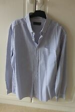 Men's Burton/white striped shirt (L)