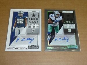 DORANCE ARMSTRONG JR AUTOGRAPH/AUTO LOT OF 2 COWBOYS CONTENDERS W/PLAYOFF L7506