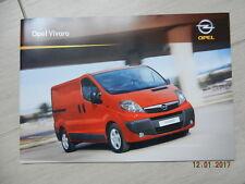 Catalogue Opel Vivaro janvier 2009