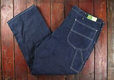 NOS 70s LEE INDIGO DENIM ZIP FLY DUNGAREE JEANS MADE IN USA NEW VTG W44 L32