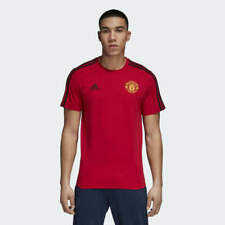 adidas Men's Manchester United 3-Stripes Tee Shirt Real Red Black [D95966]