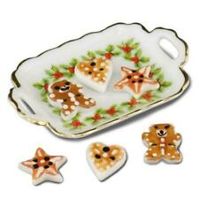 Melody Jane Dolls House Christmas Cookies & Tray Reutter Porcelain Accessory
