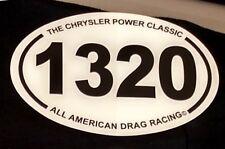 NEW 1320 Marathon 1/4 mile NHRA AHRA Drag Racing Window Decal 13.1 26.2