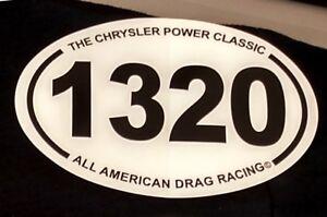 NEW 1320 Marathon 1/4 mile NHRA AHRA Drag Racing Window Decal 13.1 26.2 1 PAIR