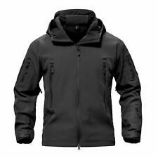 Windbreaker Mens Soft Shell Jacket Tactical Winter Fleece Coat Waterproof Hooded