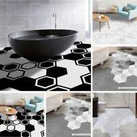 Self Adhesive Tile Art Floor Wall Sticker DIY Home Kitchen Bathroom Decor Vinyl