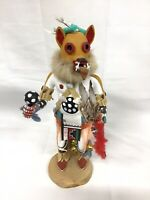 Vintage  Kachina Doll Wolf  Edwin Chuyou 11 inches