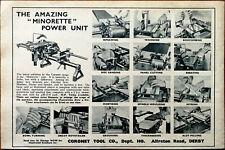 """Coronet Tool Co. Derby Amazing """"Minorette"""" Power Unit Vintage Advertisement 1959"""