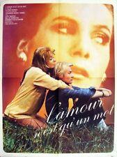 Affiche 60x80cm L'AMOUR N'EST QU'UN MOT 1971 Judy Winter, Malte Thorsten