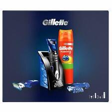 Gillette Fusion Men's Styler Gift Set, Fusion Hydrating Men's Shaving Gel+3Combs