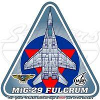 MIG-29 FULCRUM CUBA Mikoyan-Gurevich MiG-29A Cuban AirForce DAAFAR Sticker Decal