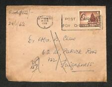 1961 Singapore Malaya Queen Elizabeth 4 Cents Ship Stamp Chop Mail Cover (C1400)