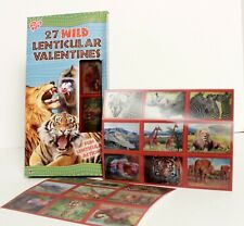 Wild Animal Lenticular Valentine's Day Classroom Cards 27 Count Box