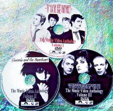 Pin & FREE SIOUXSIE and The BANSHEES Music Video Collection 3 DVD Set 59 Videos