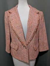 EUC The Limited Collection Pink Beige Tweed Blazer Large L