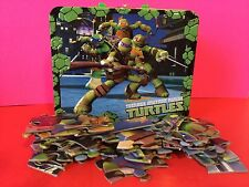 Teenage Mutant Ninja Turtles Embossed Tin Lunch Box And Puzzle Gift Collectible