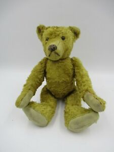 """Vintage Style Unbranded Jointed Teddy Bear 11"""" Tall (C691)"""