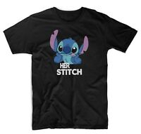New Her Stitch Cute Disney Matching T-Shirts Unisex Black