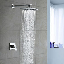 Chrome Rainfall Shower head Arm Control Valve Handspray Shower Faucet Set