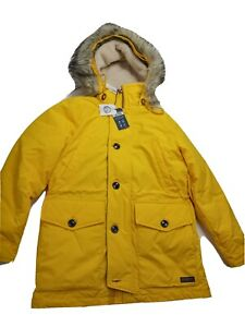 Abercrombie & Fitch Ultra Parka Coat 90% Down with Faux Hood Size Medium