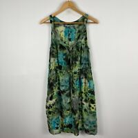 Jag Womens Silk Dress 12 Green Sleeveless Scoop Neck Lined