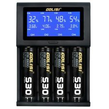 GOLISI i4 Travel LCD Smart Battery Charger USB for 21700 20700 26650 18650 AAA