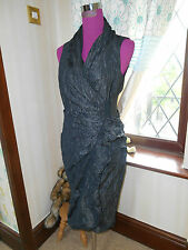 Amazing All Saints Alloy Dress Black Size 8 Excellent Condition