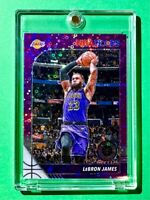 Lebron James PURPLE DISCO PRIZM PREMIUM STOCK 2019-20 NBA HOOPS INVESTMENT Mint!