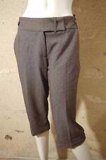JACQUELINE RIU Taille 42 Superbe pantacourt femme corsaire marron gris